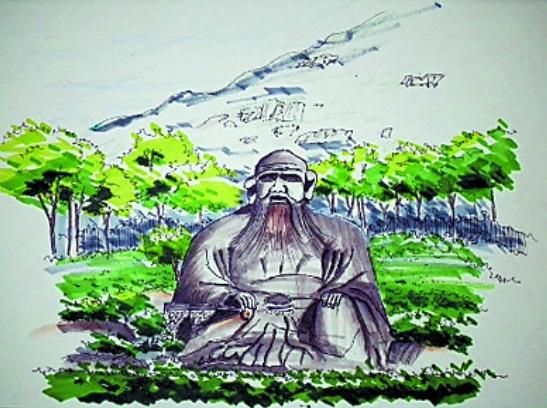 泉州师院大二学生手绘泉州标志景点 网上流传