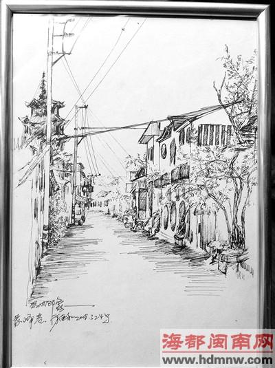 鸳鸯铅笔手绘图