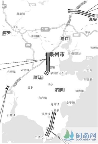 机场连接线动工 两年后泉州至晋江只需10分钟