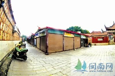 泉州府文庙收回古玩市场用地追踪 铁皮房将拆除