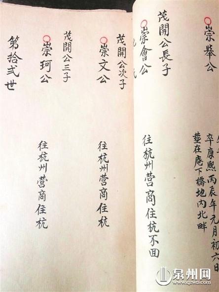 记得咱的家谱子-伯只身赴杭州续族谱 还有一支脉曾迁到台湾