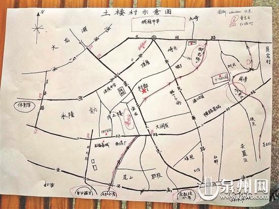 泉州市手绘地图