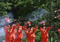 (社会)(2)陕西举行秦岭林区森林火灾扑救演练